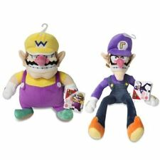 Sanei Set of 2 Wario & Waluigi Plush Super Mario All Star Collection LittleBuddy