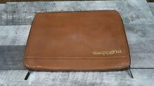 Personal Organizer Portfolio Leather Tan 11x13 Laptop 511