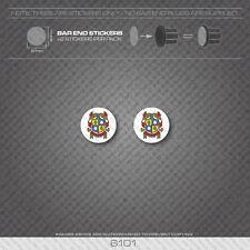 6101 - Woodrup Bicycle Handlebar Bar End Plug Stickers - Decals