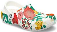 Crocs Classic Printed White Floral Clog  206376 NEW US Women Sizes 4-11 $99.95