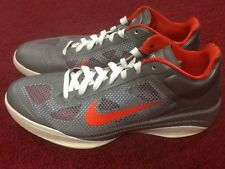 Gently worn Nike Zoom Hyperfuse Low 13 Metallic Grey - Team Orange free kd max