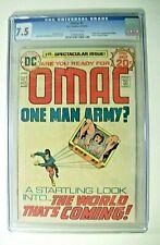 OMAC ONE MAN ARMY  1  1974  CGC 7.5  VERY FINE-