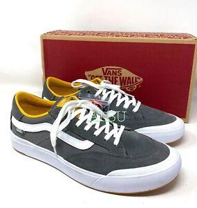 VANS Berle Pro Pewter Mango Mojito Grey Suede Men's Size Sneakers VN0A3WKXUZ1