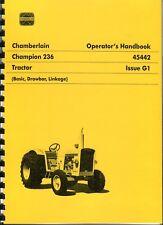 Chamberlain Champion 236 operators manual (photocopy)