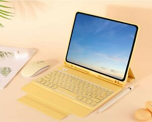 Keyboard Case Cover For iPad 9.7 Air 2 Mini 6th 7th Gen 10.2 Pro 11 YELLOW COLOR