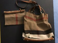 Burberry Brown Ashby Shoulder Bag With Pouch Canvas Check
