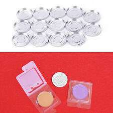 36.5mm 10Pcs Empty Round Aluminium Cases Pans for Powder Eyeshadow Ab