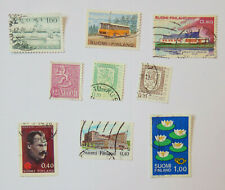 Finland / Suomi 9 used postage stamps commemorative and regular issue.1960-1980