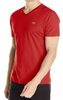 New Nwt Lacoste Men's Pima Cotton Sport Athletic Jersey V-Neck Shirt T-Shirt Tee