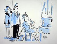 [ Humor - Presse ] Guy Valls - Heft Telegabel - Zeichnung Original Unterzeichnet