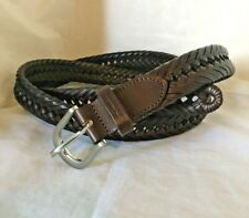 Big & Tall Men's Braided Leather Belt Size 52 Brown