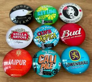 Perfect Draft Tap Handle Magnet Medallions (High Quality Glass Lens) SALE!