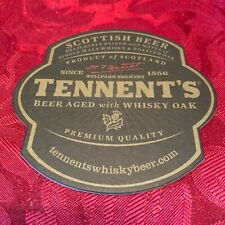 BREWERIANA - TENNENT'S - BEER AGED WITH WHISKY OAK - PREMIUM - BEER MAT - T31