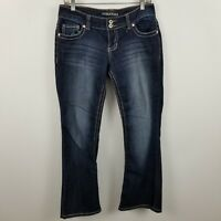 Maurices Womens Boot Cut Dark Wash Blue Jeans Size 3/4 X-Short