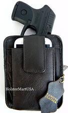 DARK BROWN LEATHER CONCEALMENT GUN PISTOL HOLSTER PACK - DIAMONDBACK DB380