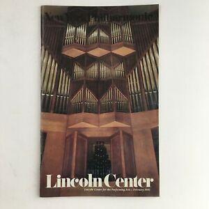 1981 Stagebill Lincoln Center Present A Paris Parade & An American Playwright