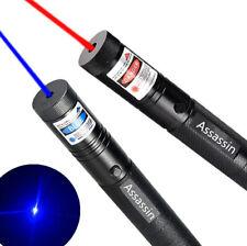 2x 990Miles 650nm/405nm Red+Blue Purple Voilet Laser Pointer Teaching Lazer Pen
