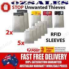 2x Passport & 5x ID RFID Blocking Credit Card Sleeve Shield Holder Protector