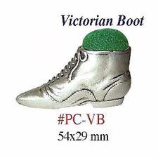 "Pin Cushion  ""Victorian Boot""   Size:  54 x 29 mm     PC-VB"