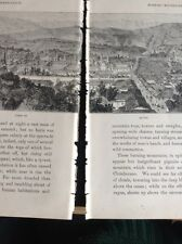 H2-2 Ephemera 1872 Book Plate - The Amazon View Of Quito 2 Split Pages
