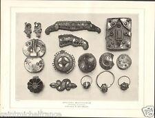 Middle Ages Merovingian jewelry Mérovingien/Crucifix Encensoir Gold PLANCHE 1906