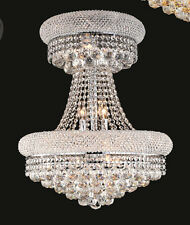 World Crystal Limited Edition Bangle 14 Light Crystal Chandelier Light Chrome