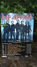 2003 Def Leppard Uk Tour Advertising Poster Sheffield Newcastle Brixton Ipswich