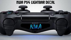 nwa playstation ps4 controller light bar decal sticker vinyl rap gangster ice