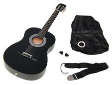 Ts-ideen 5262 Guitare Acoustique 3/4 avec Etui Sangle Jeu de cordes pour Enf