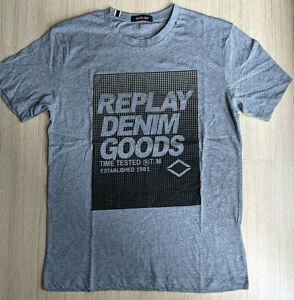 REPLAY Men's Denim Goods Printed T-Shirt Crewneck Tee Size M