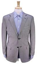 Z ZEGNA Recent Black/Gray Herringbone Bamboo 2-Btn Slim Blazer Jacket 36R