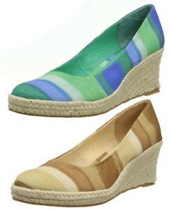 "Women NEW Soft Style Feri 2.5"" Hell Wedges Slip On Comfort Heel Espadrille Shoes"