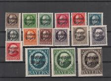 Altdeutschland Bayern 116-139 II A, *, (Michel 220.-)