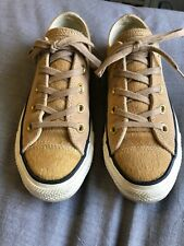 Converse All Star Women's Size 6 Tan Suede Hair Low Top Sneakers