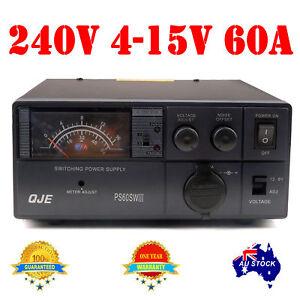 Variable Power Supply Switch Mode 4-15V 60A 13.8V 12V Ham Radio Car motor OZ