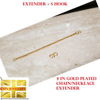 18ct Gold Extension Safety Necklace/Bracelet/ Chain Extender GOLD PLATED