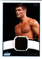 WWE Cody Rhodes 2012 Topps Authentic Event Worn Shirt Relic Card Black DWC2