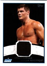 WWE Cody Rhodes 2012 Topps Authentic Event Worn Shirt Relic Card Black FD30