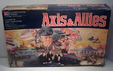 1984 Axis & Allies Strategy War Board Game Milton Bradley Game Master series