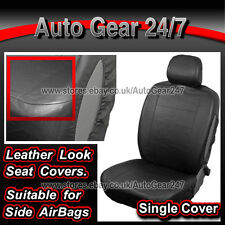Car MPV 7 Seater Leather Look Black Single Seat Cover