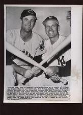 Origina 1958 Enos Slaughter New York Yankees Wire Photo