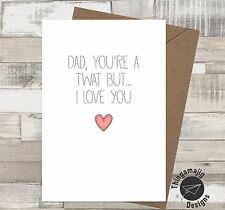 FATHERS DAY CARDS ADULT RUDE BANTER DAD DADDY Comedy Funny Novelty Humour / FN