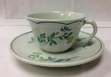 LONGCHAMP MOUSTIERS TEACUP & SAUCER FAIENCE NEW MADE IN FRANCE