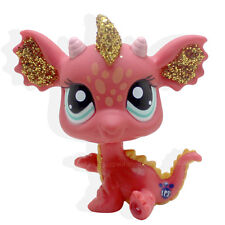 Littlest Pet Shop Chinese New Year Lucky Red Sparkle Glitter Dragon LPS #2484