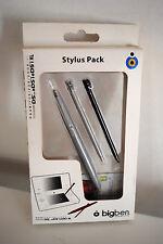 Lot de 2 stylets et un stylo pour Nintendo DS DSi 3DS XL couleur argenté