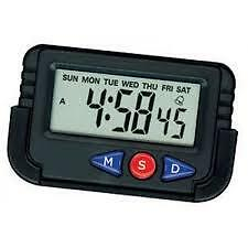 AutoSun-Car Dashboard / Office Desk Alarm Clock and Stopwatch with Flexible Stan