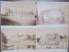 4 PHOTO ANCIENNES 1890 CHATEAU DE JOSSELIN CHATEAU DE BLOIS