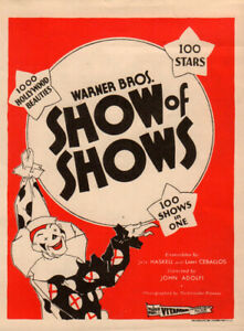 Show of Shows Original Movie Herald from the 1929 Movie