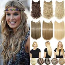"""Invisible Secret Wire Hair Extensions 20/24"""" Long 90/120G Thick Hair Human Fgr"""