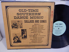 Old-Time Southern Dance Music Ballads and Songs Old Timey LP 102 & Booklet 1P LP